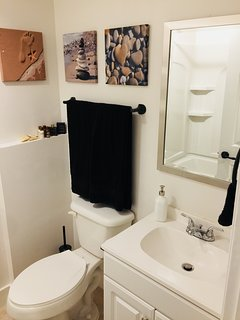 Full remodeled private Bathroom with bath/shower