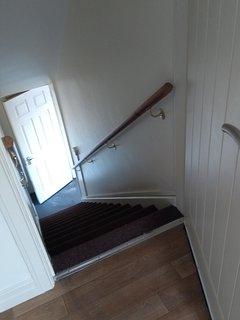 Stairway to garage