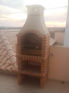 Bbq on the roof terrace.