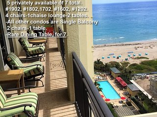 5Condos-ExclusiveTerrace+DiningTable-WiFI TV-MarriottSingerIslandResortSpa