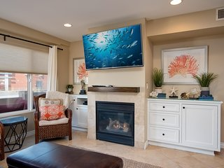 HD TV with Direct TV and Blu-ray player provide endless entertainment.