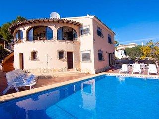 Villa Elfriede en Benitachell,Alicante,para 10 huespedes