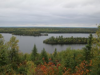 View from living room overlooking Moose Lake