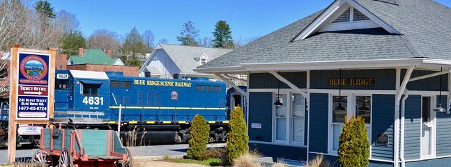 Take a train ride on the Blue Ridge Scenic Train