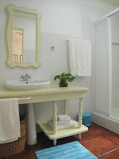 Updated bathroom with bath towels included. Beach towels not included.