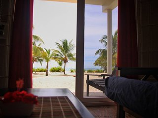 Moonflower South . Private Beachfront Apartment on the Caribbean