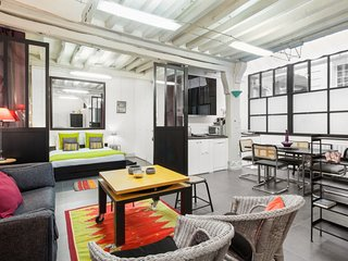 Artist loft for 4 in Saint-Germain-des-Pres