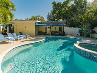 Dog-friendly house w/ private pool & entertainment - walk to the beach!