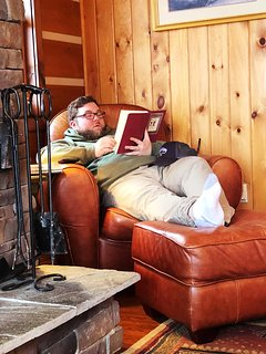 Cozy up with a good book for the afternoon