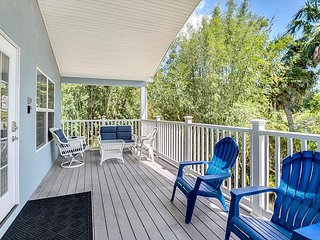 Airy Retreat w/ Private Garage & Heated Pool - 3 Blocks to Beach Park!