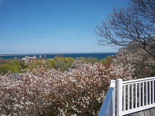 2BR/2BA w/ Bay Views, Huge Deck & Hot Tub - Laundry & Parking Included!