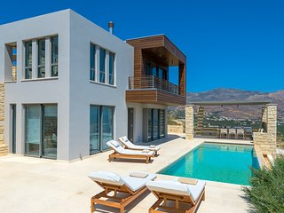 Contemporary villa with stunning sea views and heated pool