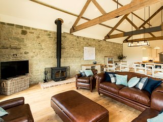 Stunning lounge area with woodburner for those cooler evenings