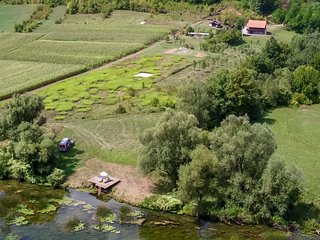 The Erak estate on the Korana river in direct contact with unspoilt nature