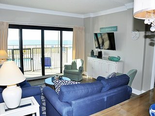 Oceanfront three bedroom First Floor condominium.