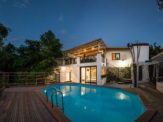 'Ti case créole' Maison créole typique avec piscine sans vis dans le sud.