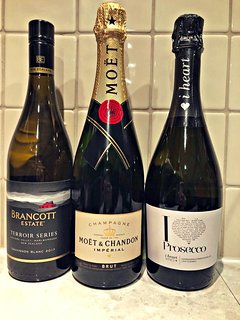 Champagne and Prosecco available at an extra cost