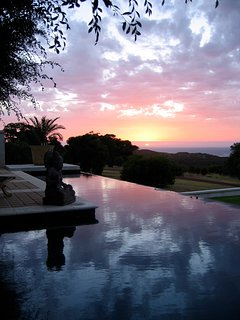 another beautiful sunset over the most amazing' 26 meter infinity pool