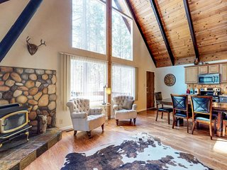Enchanting alpine chalet w/ wood stove, lots of room, & a prime location!