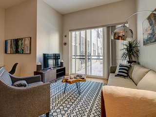 Modern, upscale condo w/ shared gym, game room & patio - walk to the T & port!