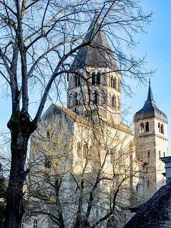Vue de l'abbaye de Cluny