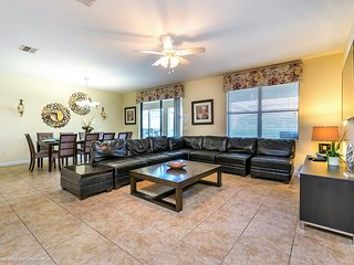 8BR 5 bath Champions Gate Resort home with private pool, spa and game room