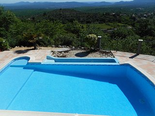 Holiday villa in Courry, Cevennes, view, heated pool, pets admitted