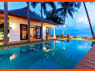 Villa 87 - (3 bedroom option) beach front luxury with Thai chef service