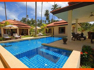 Villa 112 - Beach front (3 BR option) continental breakfast included