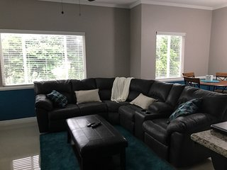 Living area with reclining couch