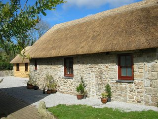 EAST BARN, sweet, thatched pet friendly barn in quiet village location. Praze an