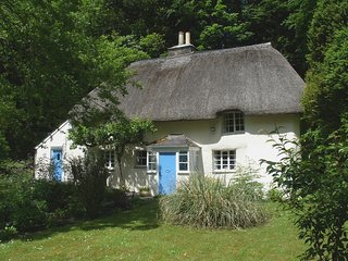 LEW QUARRY COTTAGE, gorgeous thatched cottage with open in woodland. Lifton 4 mi
