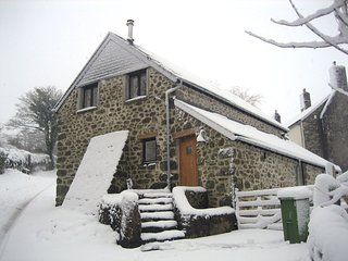 THE BOTHY, detached cottage with wood burning stove in pretty Dartmoor village.