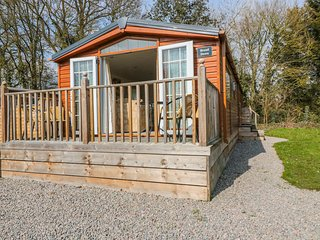 BROAD DOWN, ground floor detached lodge, dog-friendly, decked area, in Berrow