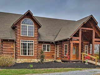 NEW! Bean Station Log Home w/Pool on Cherokee Lake
