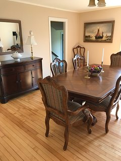 Dining room seats eight for those who want to travel with family or friends.