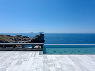 A pearl in South Crete! Elegant seafront villa with private pool & amazing views