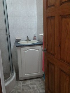 Bathroom in our Courvoisier Apartment