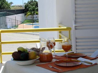 Apartment,with fantastic terrace,Pool,Tennis, AC.