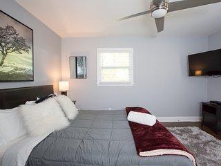 One of 6 Bedrooms, Queen size memory foam bed