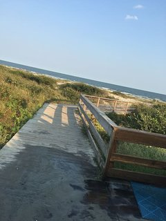 There are several public boardwalks where you can access the beach.