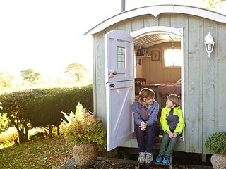 Luxurious Shepherds huts in the Scottish Borders