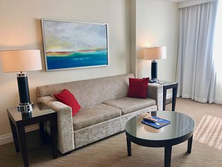 Spacious 1 BR Apartment with City View, up to 6 guest, Block away from the Beach