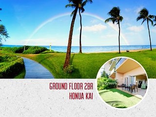 Ground Floor 2BR ~ Steps to the Beach ~ Private Lawn ~ Luxury Beachfrong Resort