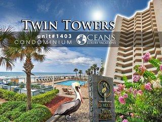 Nov Specials! Twin Towers Condo - Oceanfront - 3BR/3BA #1403