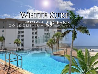 Dec Specials! White Surf Condo - Oceanfront - 2BR/2BA #203