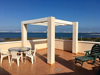 Front line sea view penthouse apartment, roof terrace, communal pool