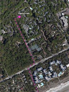 Walking path from villa to beach via Woodward Ave onto  Alder Lane (beside Marriott Grande Ocean)