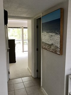 View from upstairs landing hallway towards Guest Bedroom
