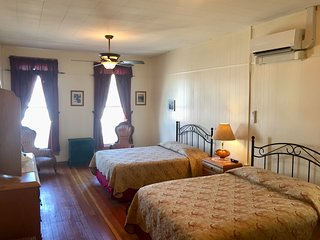 Converted Historic 1894 Hotel,Buffalo Suite, Downtown Main Street, Two Bedroom
